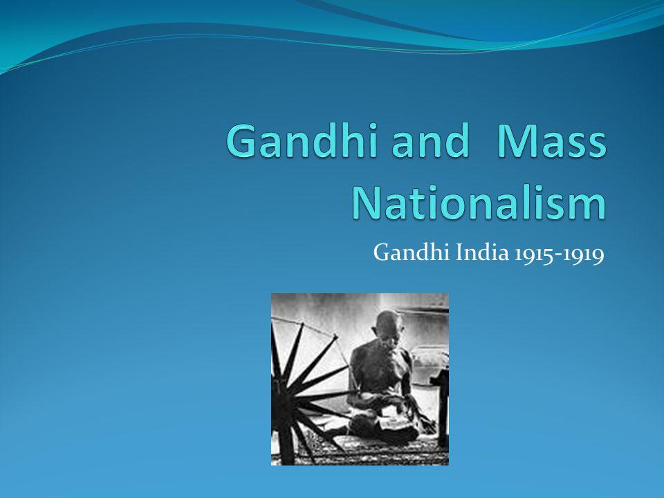 Gandhi India 1915-1919