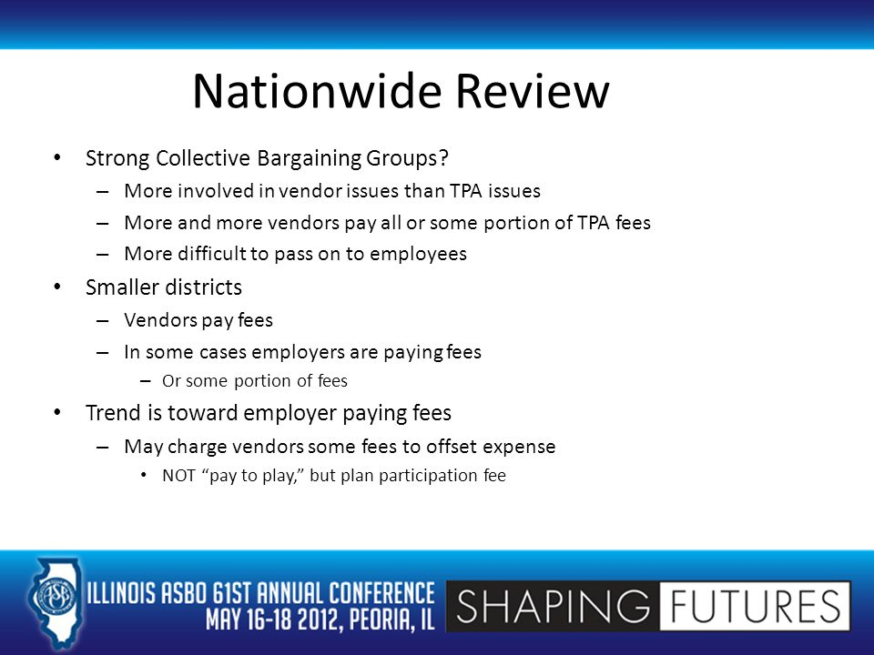 Nationwide Review Strong Collective Bargaining Groups.