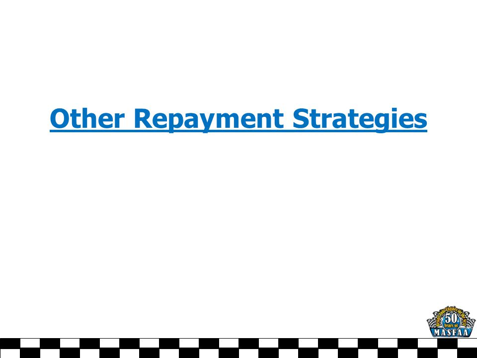 Other Repayment Strategies