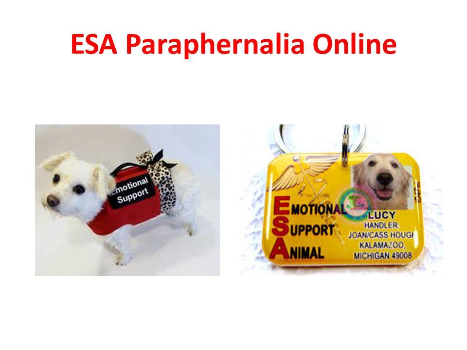 ESA Paraphernalia Online