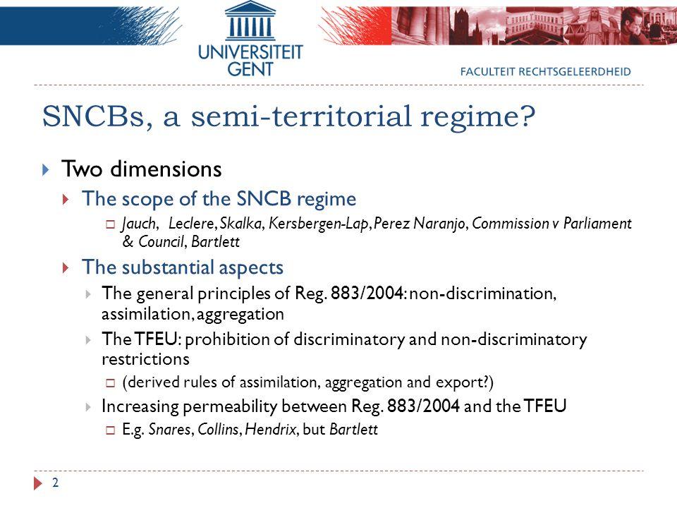 SNCBs, a semi-territorial regime.