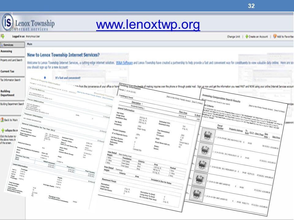 www.lenoxtwp.org 32