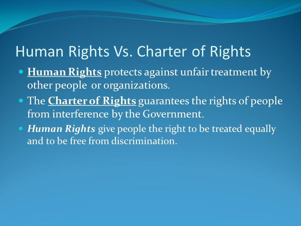 Human Rights Vs.