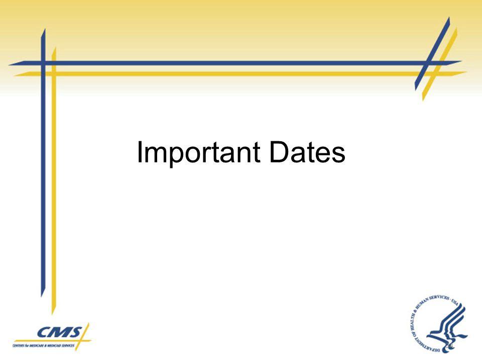 Important Dates 34