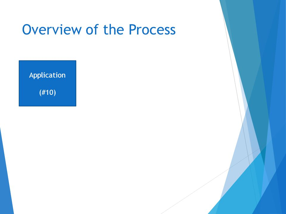 Overview of the Process Application (#10)