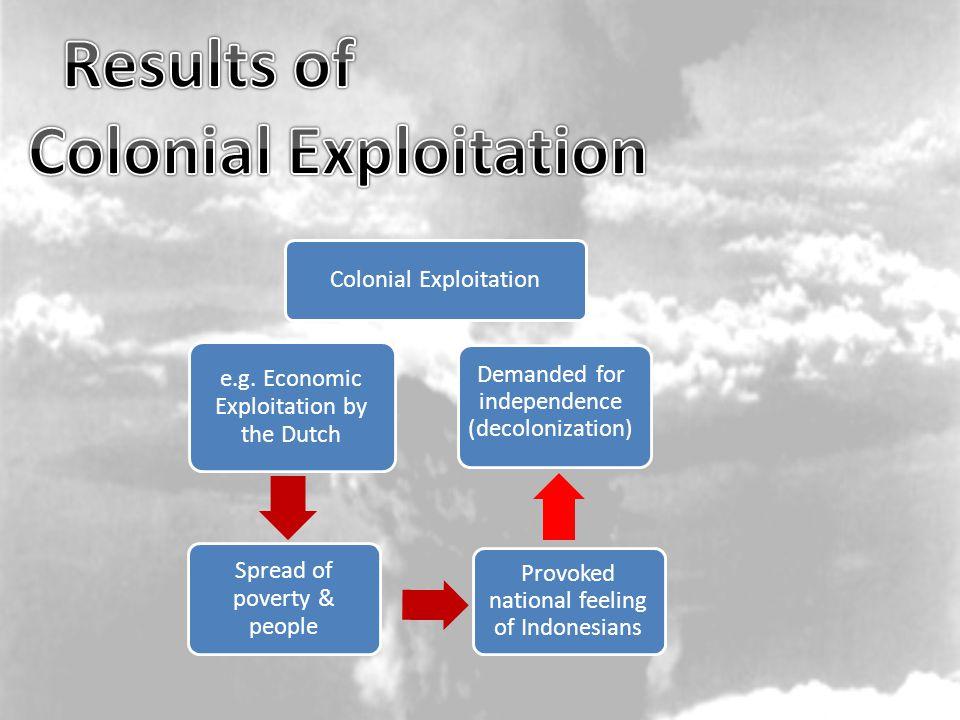 Colonial Exploitation e.g.
