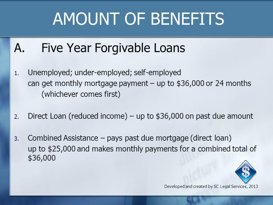 Amount of Benefits, Cont'd.B. Grant 1.