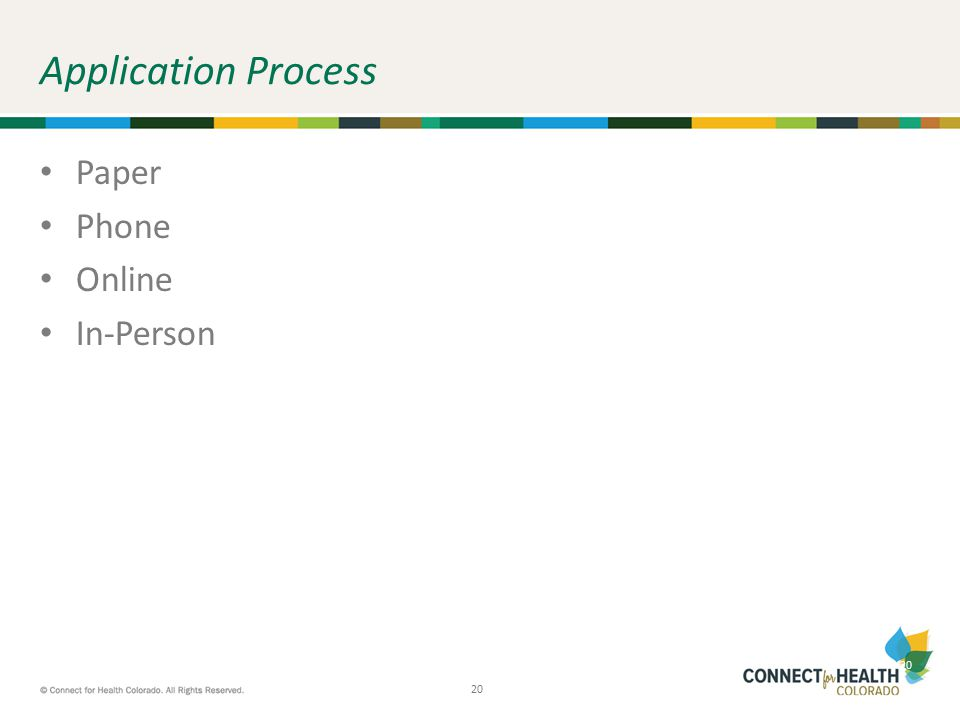 20 Application Process Paper Phone Online In-Person