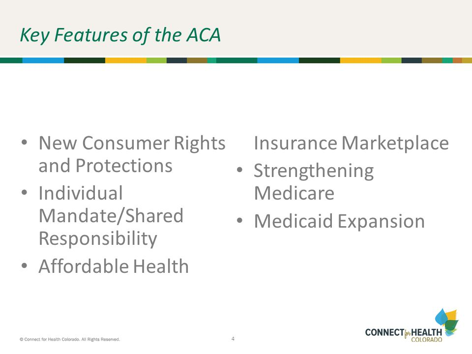 5 5 New Consumer Rights and Protections Stops insurance companies from dropping coverage Adds more preventive care Extends coverage for young adults Stops insurance companies from denying coverage because of pre-existing conditions Bans lifetime limits