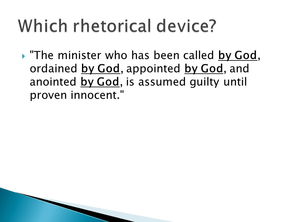  The minister who has been called by God, ordained by God, appointed by God, and anointed by God, is assumed guilty until proven innocent.