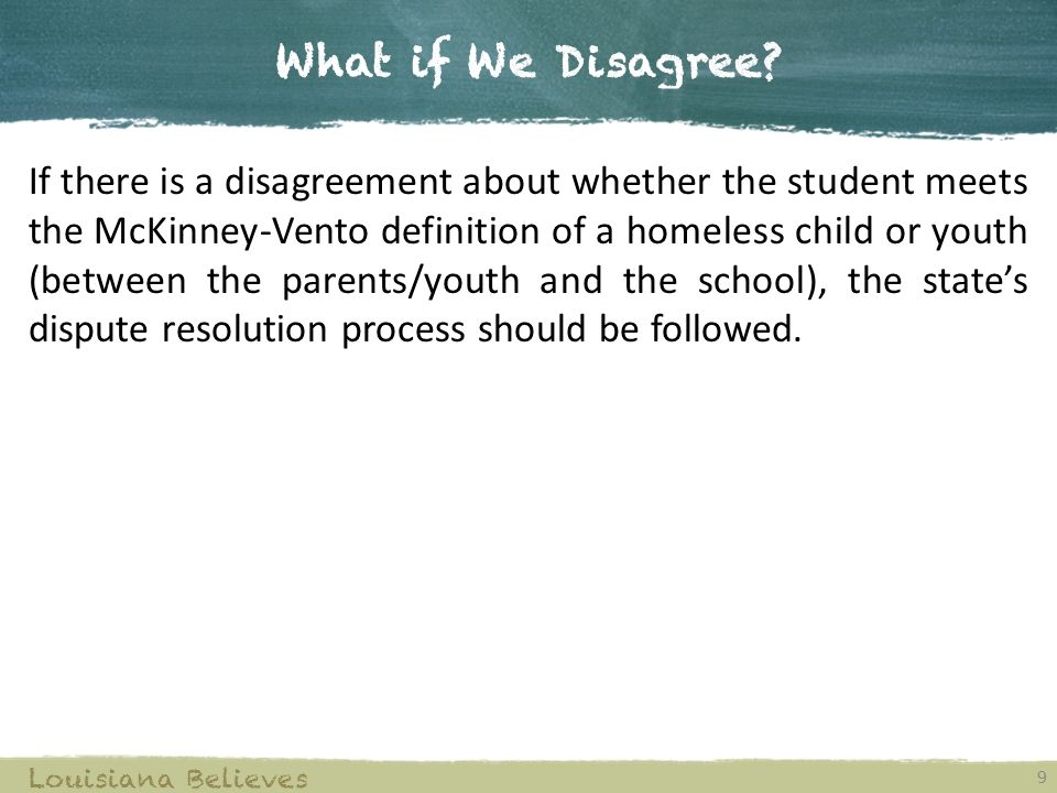 What if We Disagree.