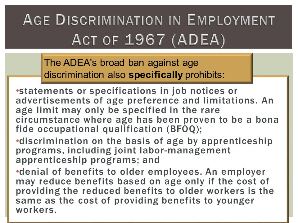 statements or specifications in job notices or advertisements of age preference and limitations.