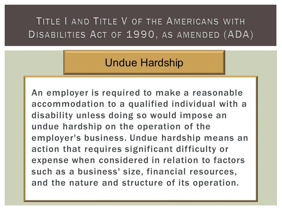 Undue Hardship