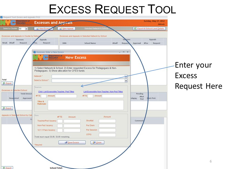 Excess Request Scoring Tool 1.Enable All Content  Press the Options button in the message bar  Select Enable for All Options 2.Select: View Scoring Button 17
