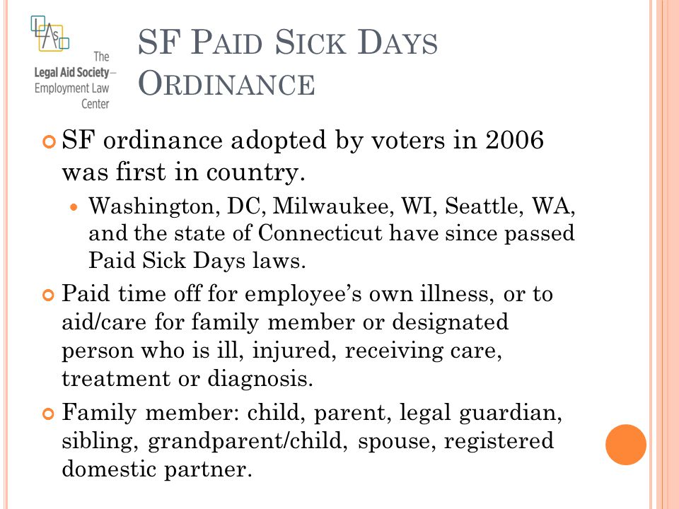 SF ordinance adopted by voters in 2006 was first in country.