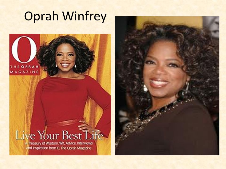 Who is Oprah Winfrey.