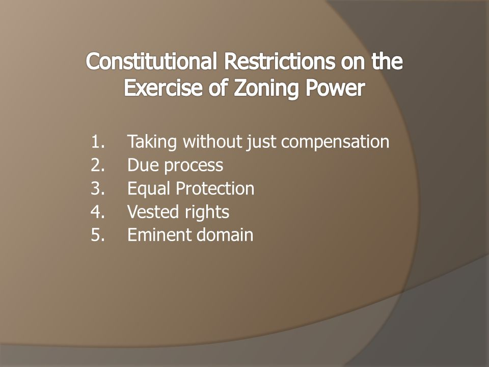 -Permitting -As a matter of right -Fast -Appeal process -Maintenance -You can regulate and require maintenance of the structure.