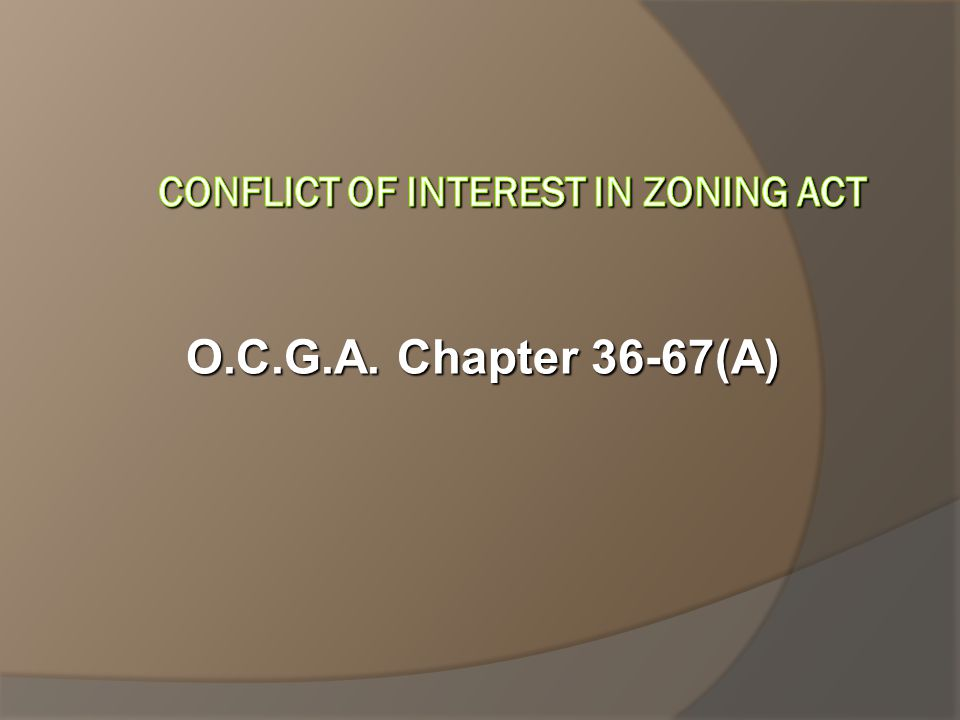 O.C.G.A. Chapter 36-67(A)