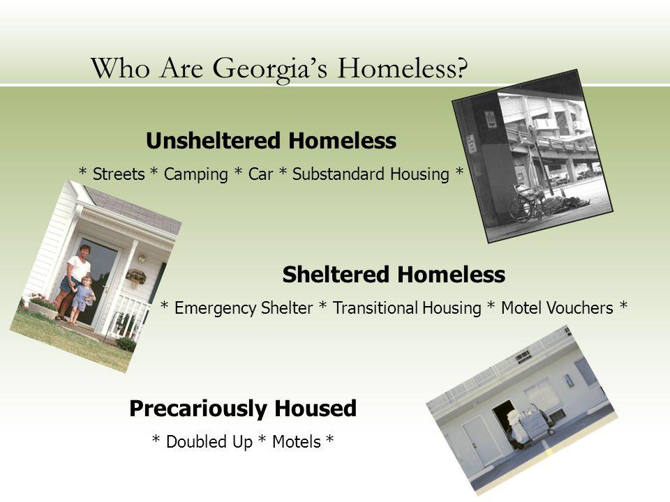 Who Are Georgia's Homeless.