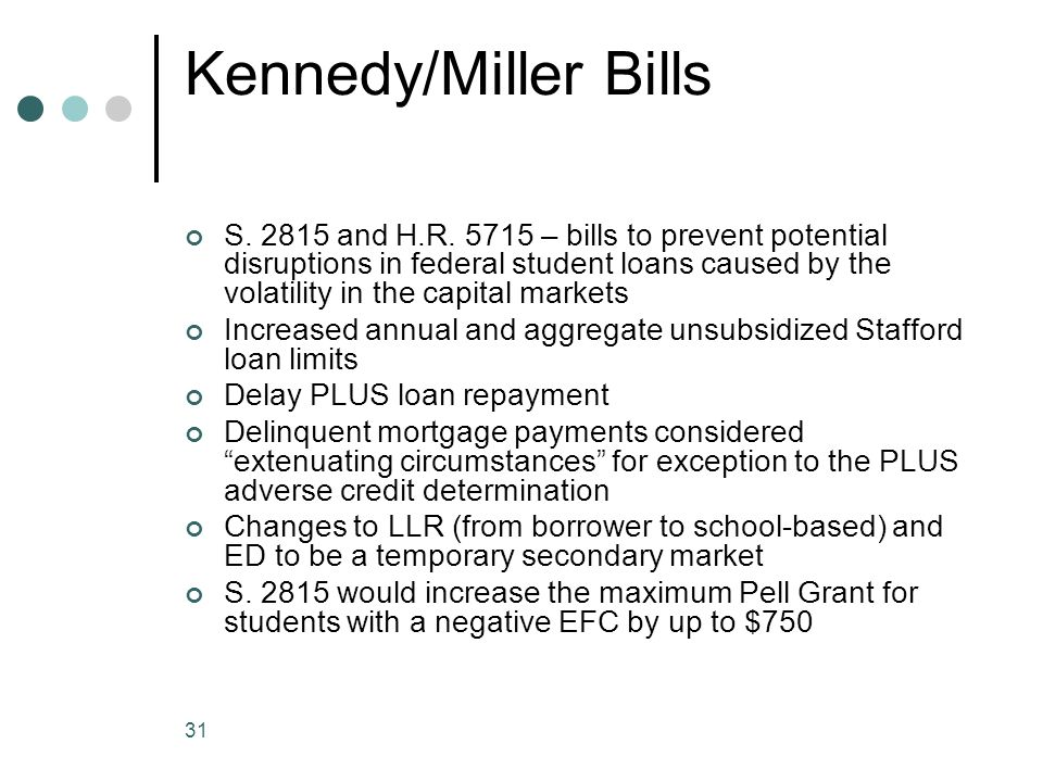 31 Kennedy/Miller Bills S. 2815 and H.R.