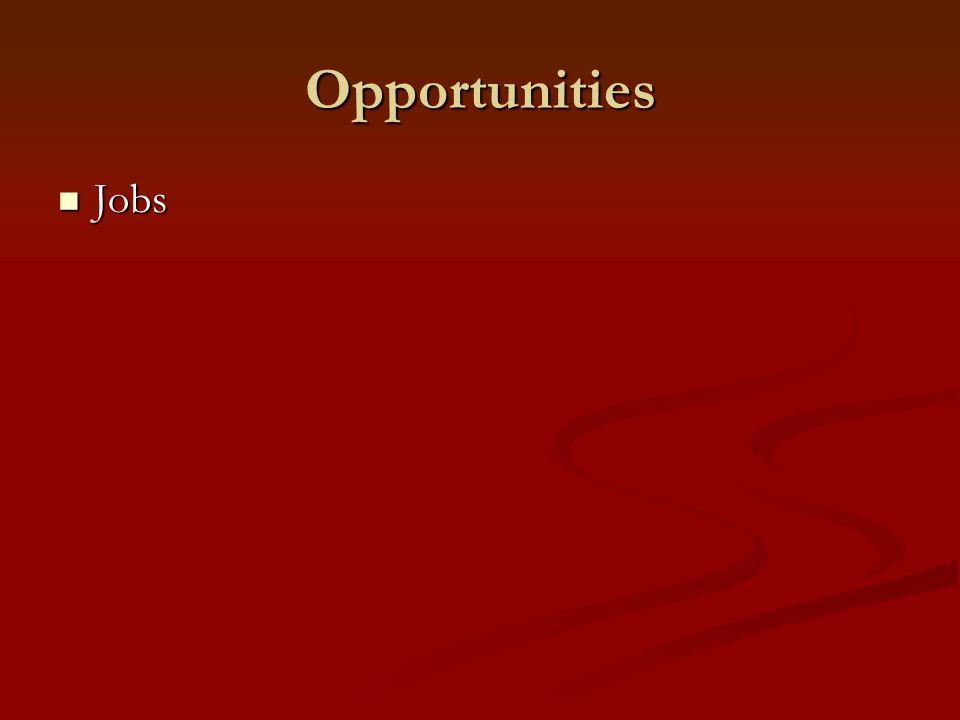 Opportunities Jobs Jobs