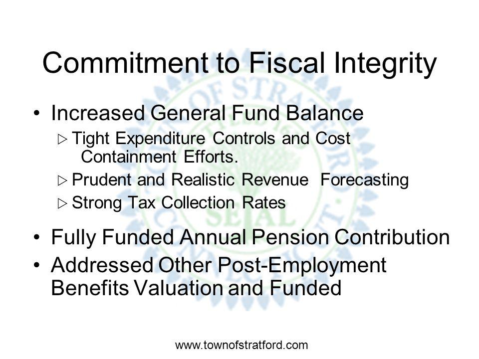 www.townofstratford.com CURRENT FINANCIAL STATUS