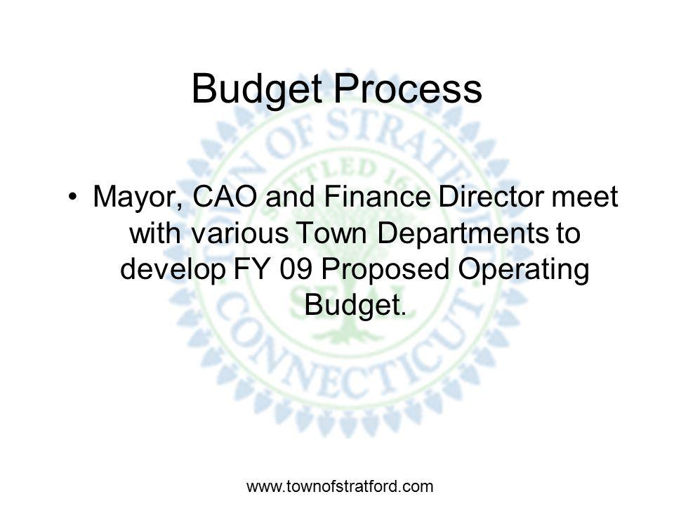 www.townofstratford.com BUDGET PROCESS