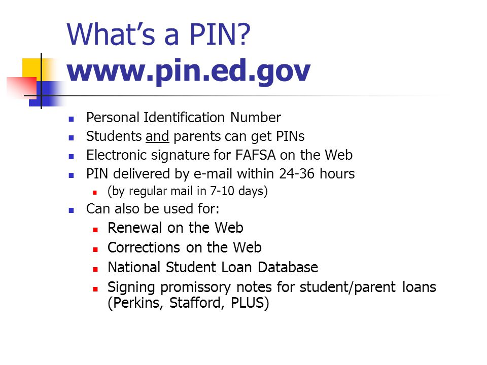 What's a PIN.