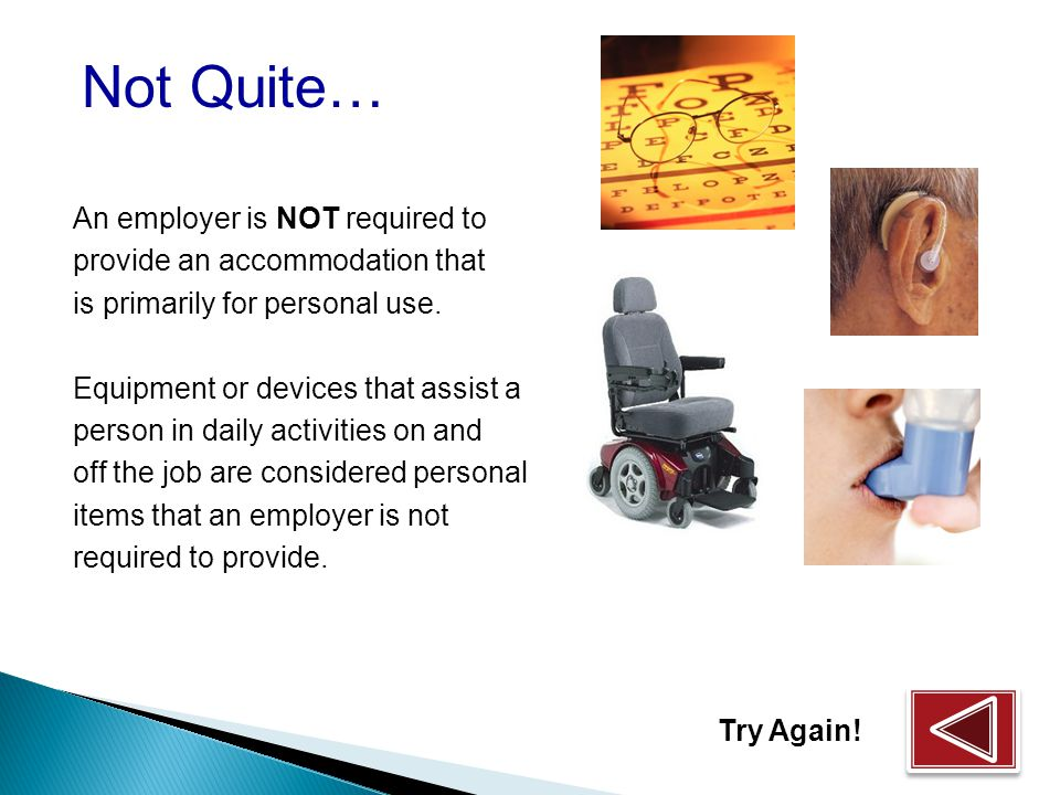 What is a reasonable accommodation.