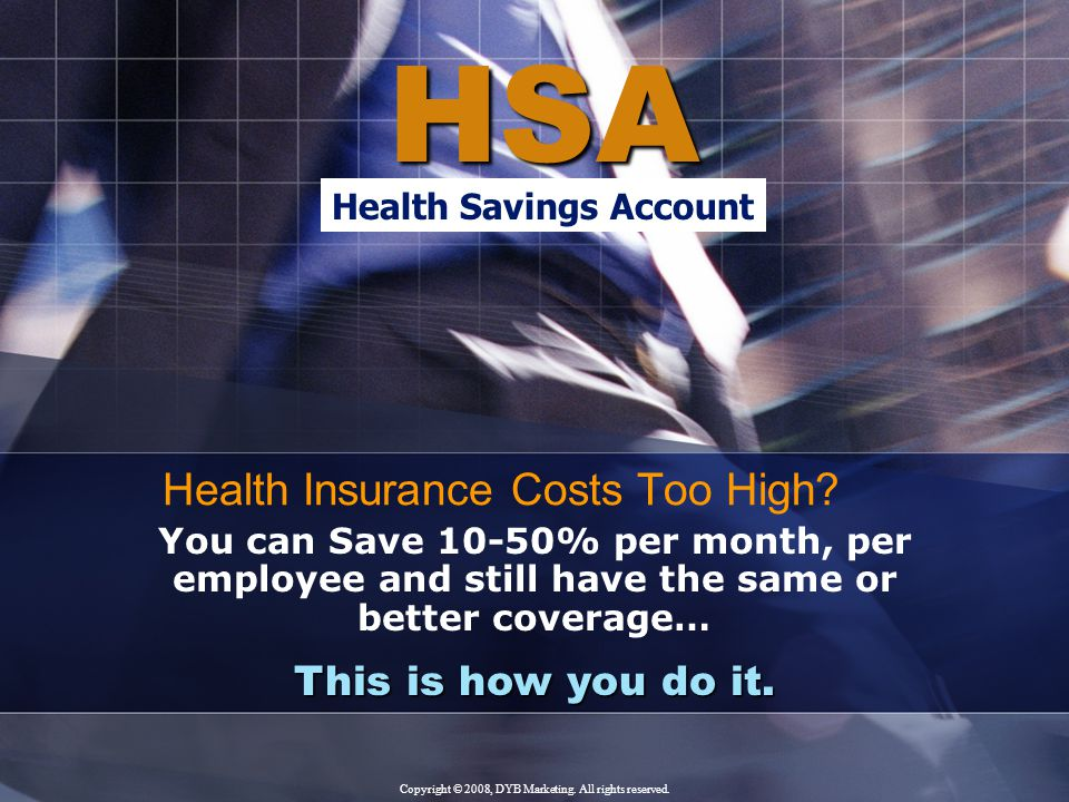 Choose HSA A Health Savings Account (HSA) is a tax-favored savings account designed to allow for the accumulation of funds to pay for qualified healthcare expenses and to save for future expenses.