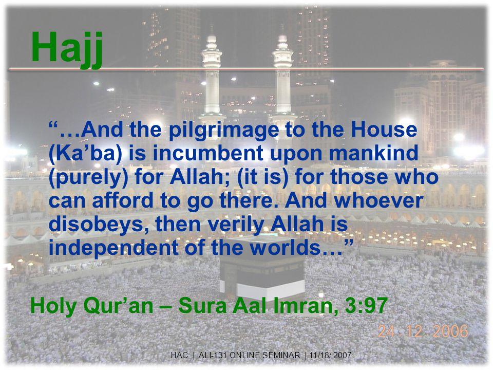 Ihram - Spiritual Everyone dressed the same, no sign of status, wealth etc, visible.