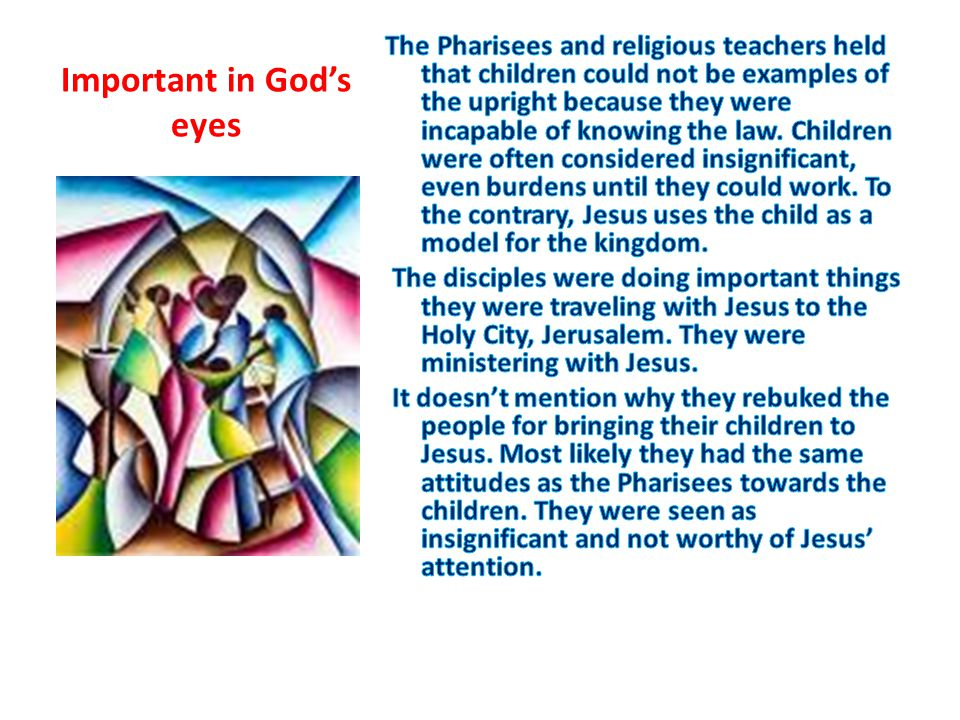 Important in God's eyes