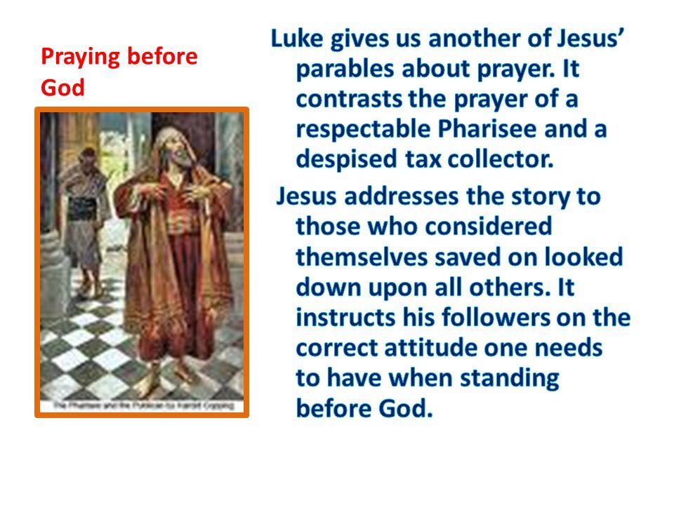 Praying before God