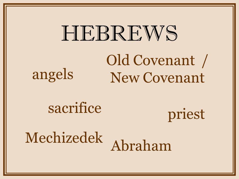 HEBREWS Pay attention – do not drift away.