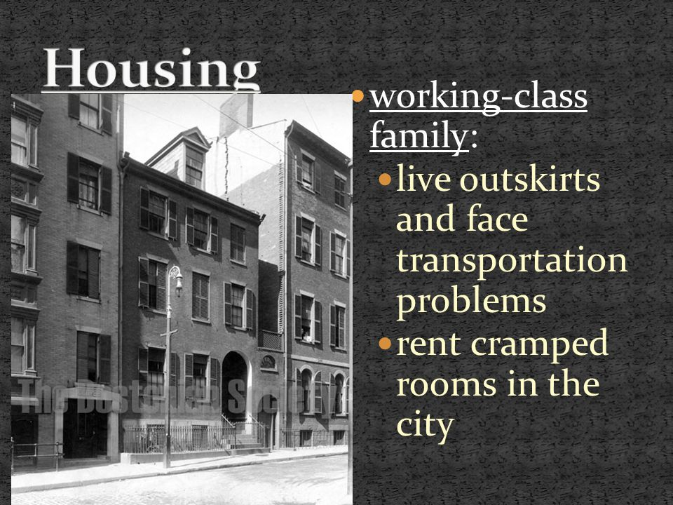working-class family: live outskirts and face transportation problems rent cramped rooms in the city