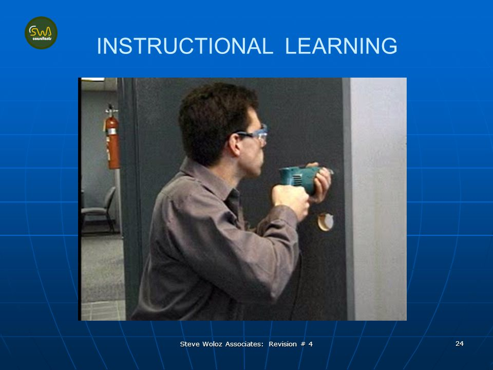 Steve Woloz Associates: Revision # 4 24 INSTRUCTIONAL LEARNING
