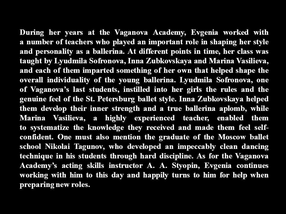 Evgenia Obraztsova was born in Leningrad (now St.