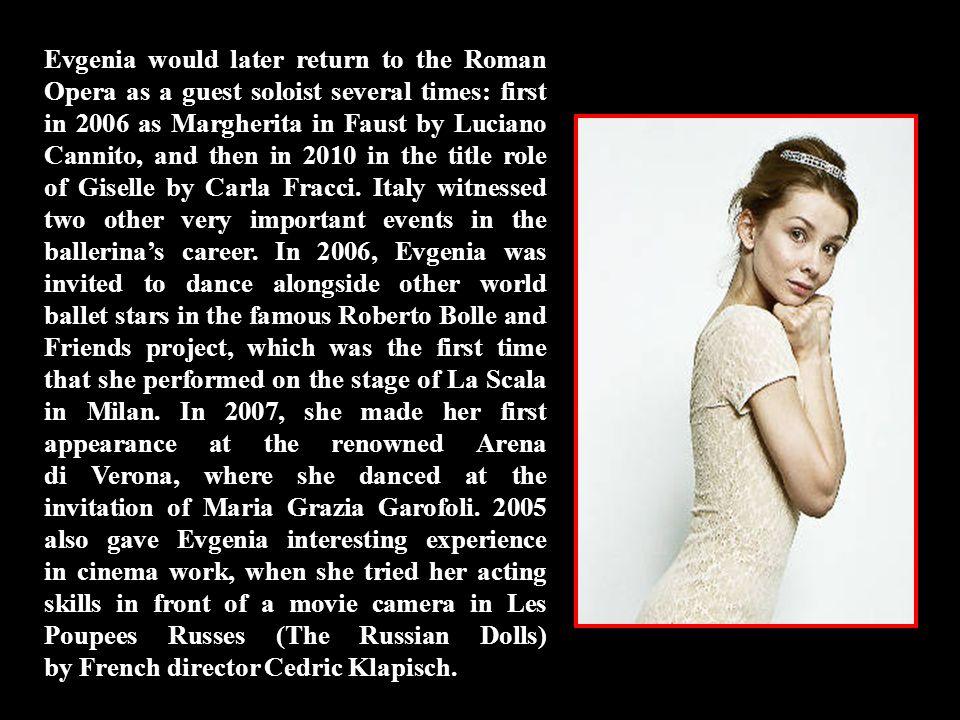 2005 was another key landmark in Evgenia's dancing career.