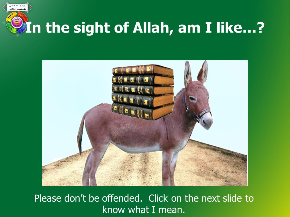 In the sight of Allah, am I like…. Please don't be offended.