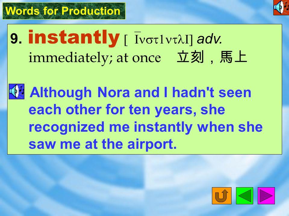 Words for Production 8. potent [`potNt] adj.