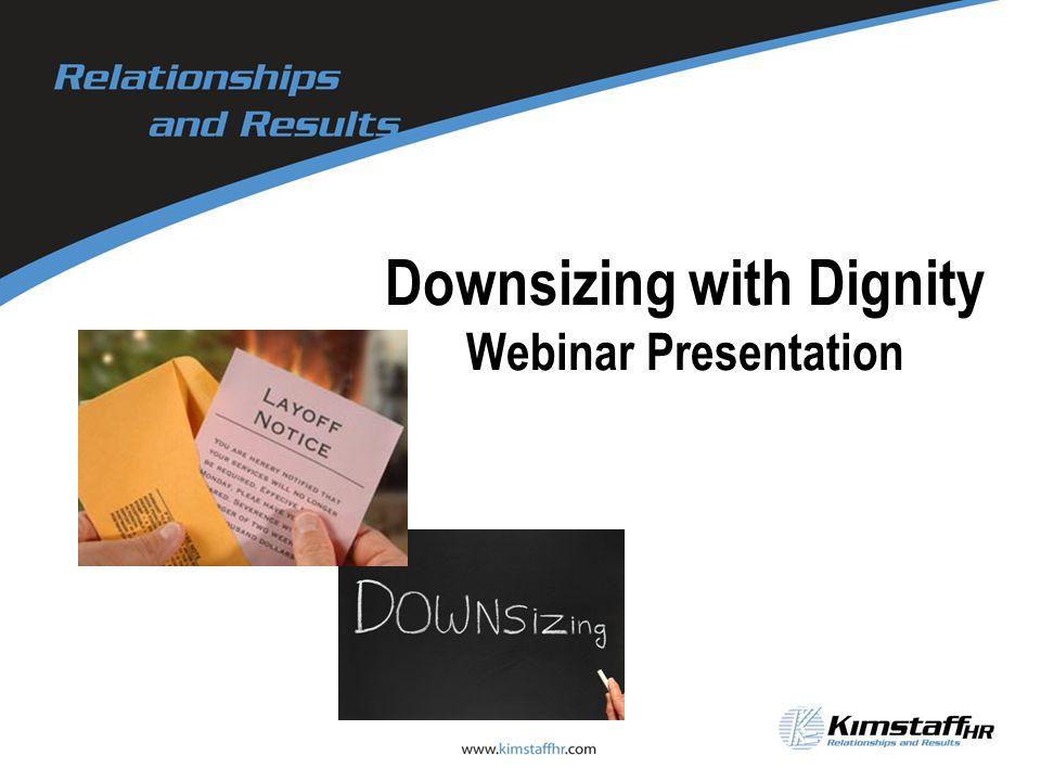 Downsizing with Dignity Webinar Presentation