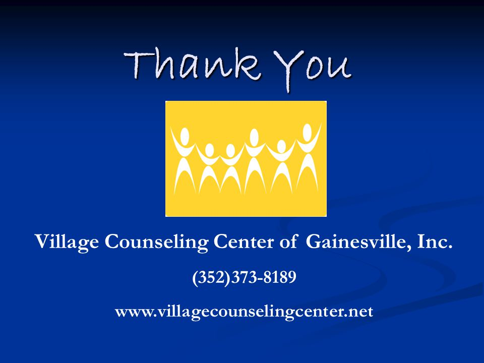 Thank You Village Counseling Center of Gainesville, Inc.