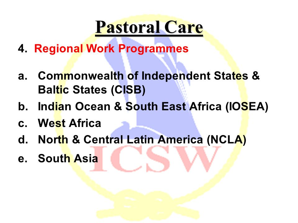 Pastoral Care 4.