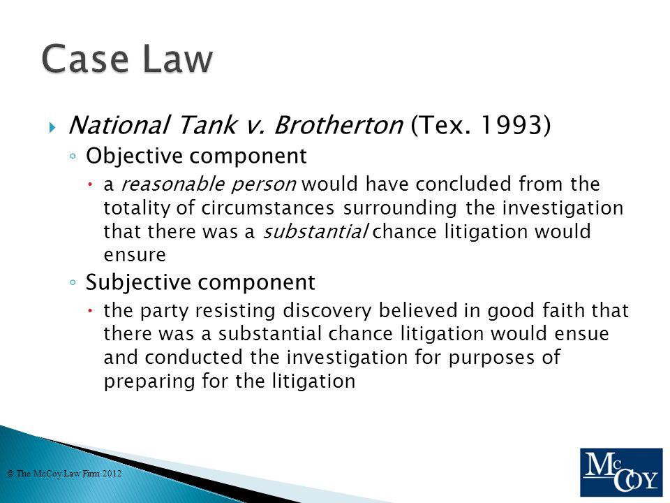  National Tank v. Brotherton (Tex.
