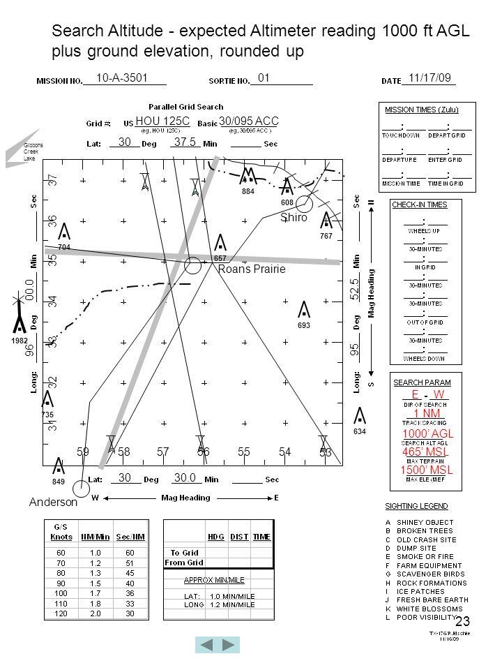 23 10-A-35010111/17/09 HOU 125C30/095 ACC 3037.5 3030.0 96 00.0 95 52.5 Roans Prairie.