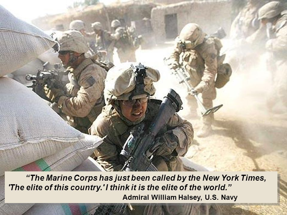 Marines have a history.