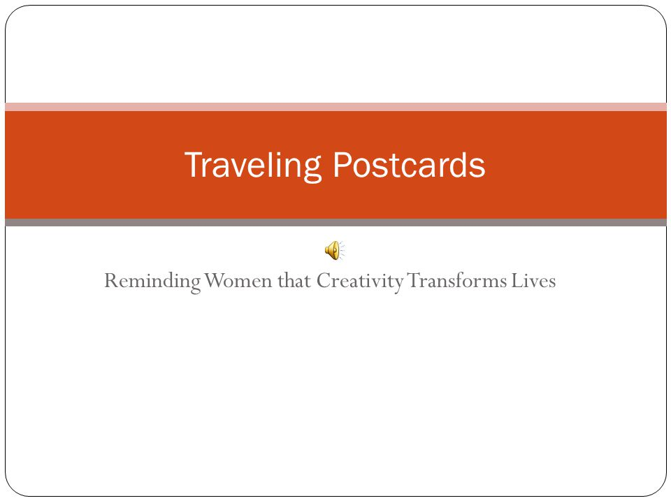 Service Traveling Postcards is an act of service.