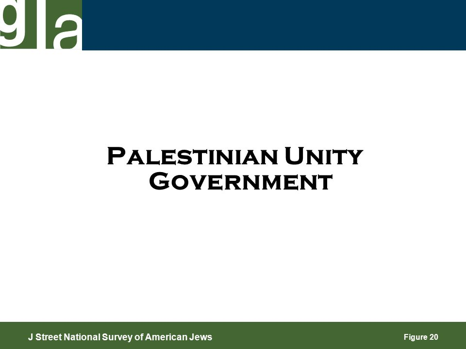 Figure 20 Palestinian Unity Government J Street National Survey of American Jews