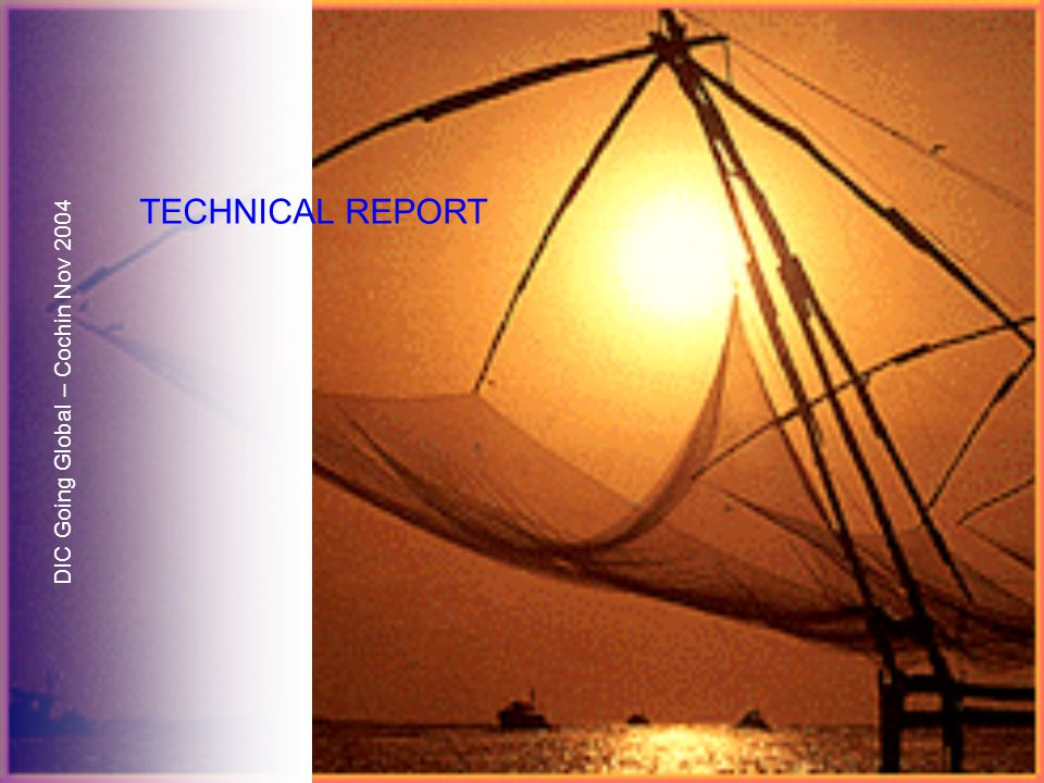 DIC Going Global – Cochin Nov 2004 TECHNICAL REPORT