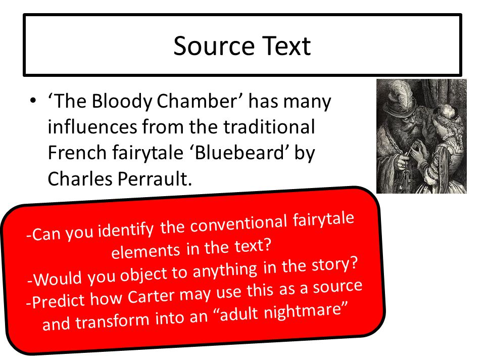 Close Readings In small groups you will now closely analyse extracts from 'The Bloody Chamber'.